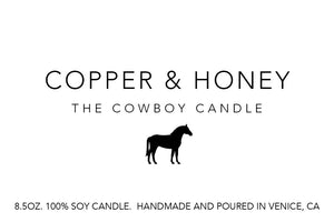 cowboy candle - amber jar (special edition)