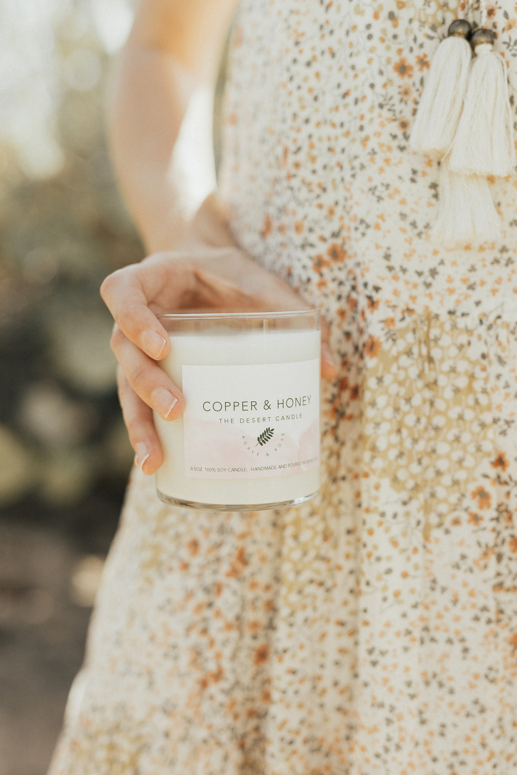the desert candle - agave & rose