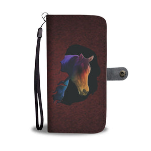 Rider And Horse Wallet Case