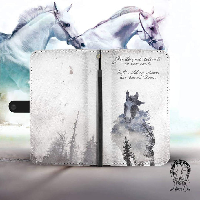 Gentle Soul Horse Wallet Case