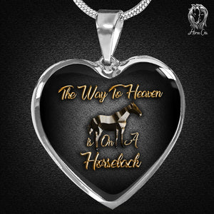 Heaven On Horseback Heart Necklace