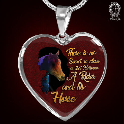 Rider And Horse Heart Necklace