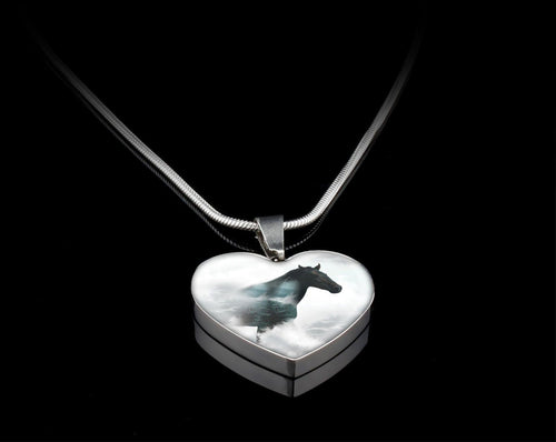 Horse In Heaven Heart Necklace