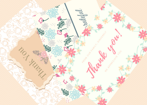 Thank you and appreciation cards - set of 15