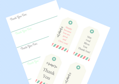 Grateful Jar - Printable notes template and grateful/thankful gift tags