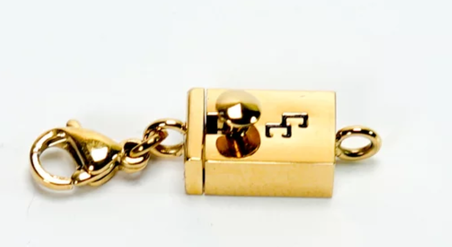 18k Gold Plated  Cinch Clasp Adapter