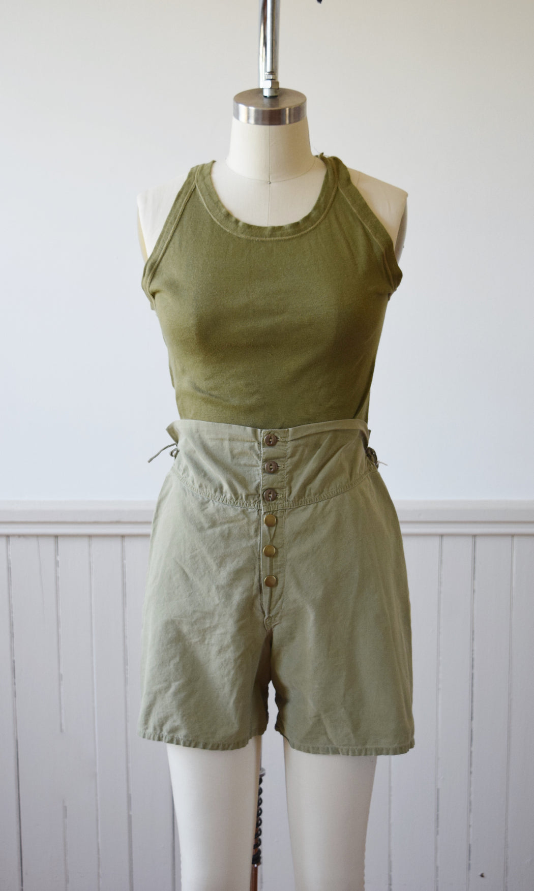 Army Issue Rib Knit Tank | 1940s | 1 | XS/S