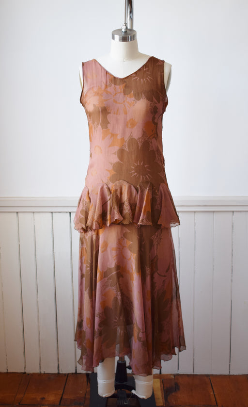 Late 1920s Tissue Silk Dress | XXS/XS