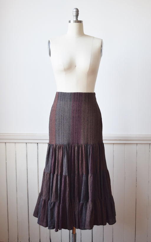 1990s Norma Kamali Wool Broom Skirt | M
