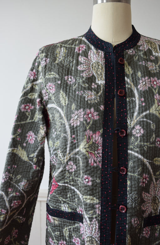 Vintage Reversible Quilted Jacket | S