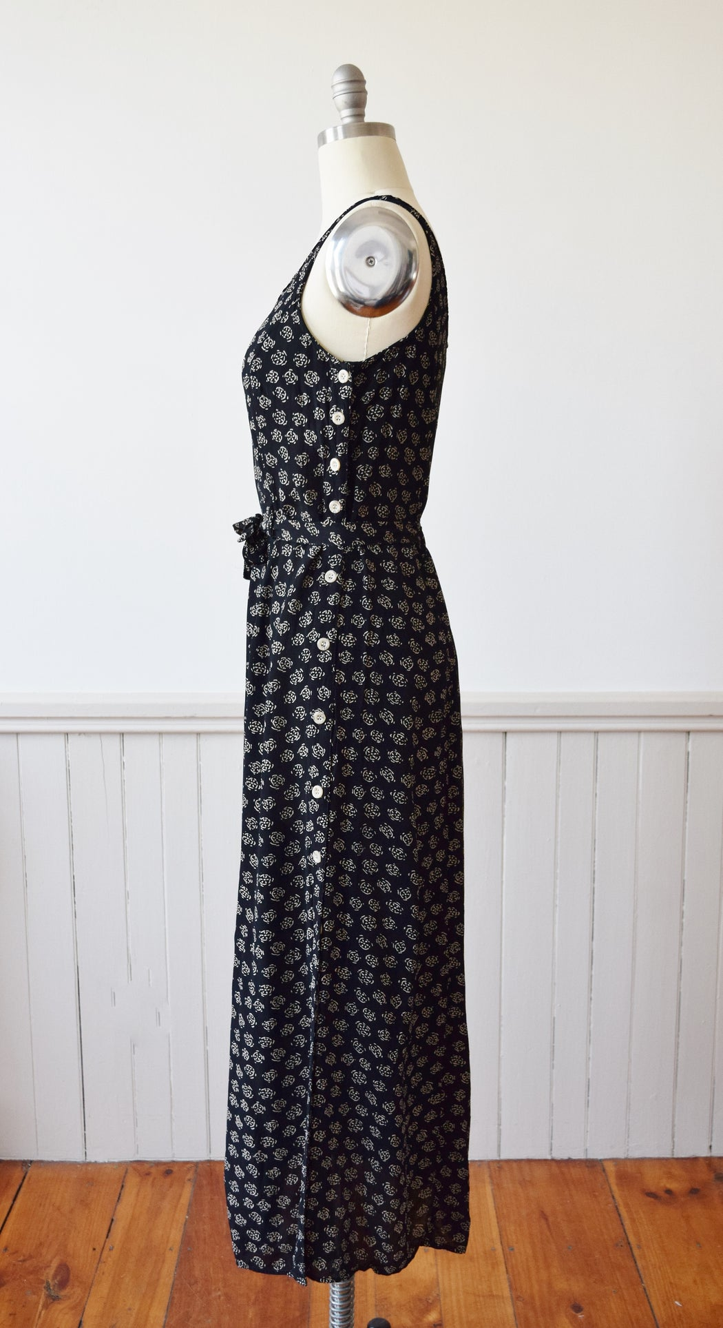 Vintage Rayon Summer Sun Dress | M