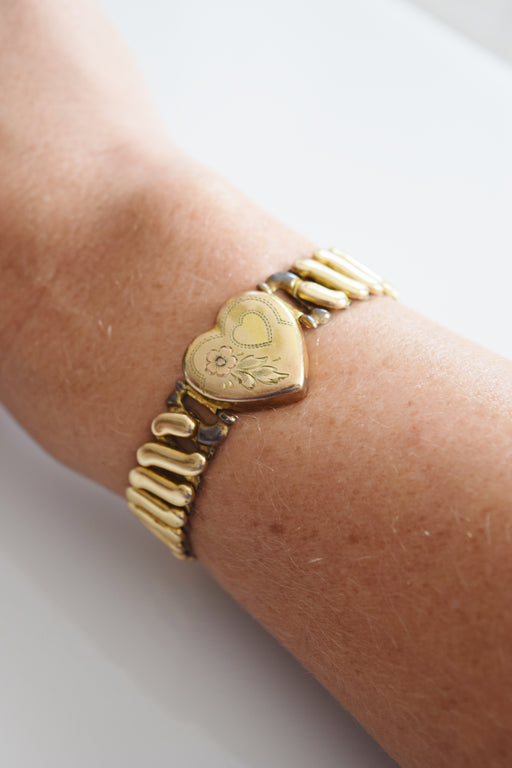 Vintage Sweetheart Expansion Bracelet | 1950s