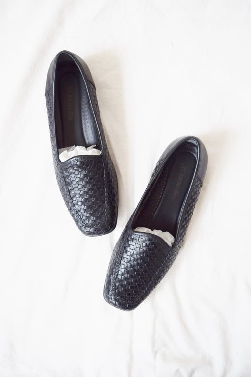 Vintage Braided Leather Loafers | US 8