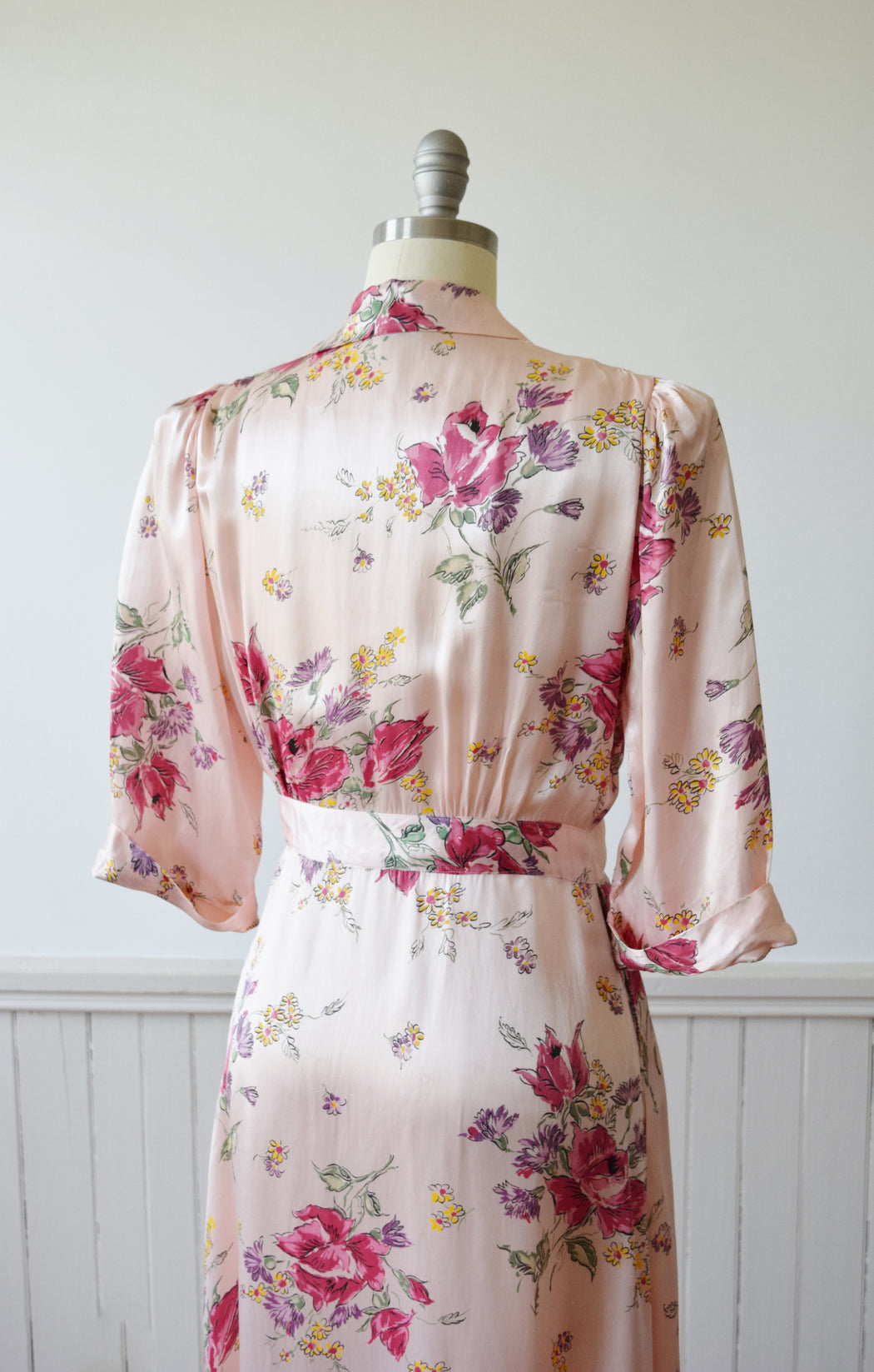 Floral Wrap Dressing Gown | 1940s | M