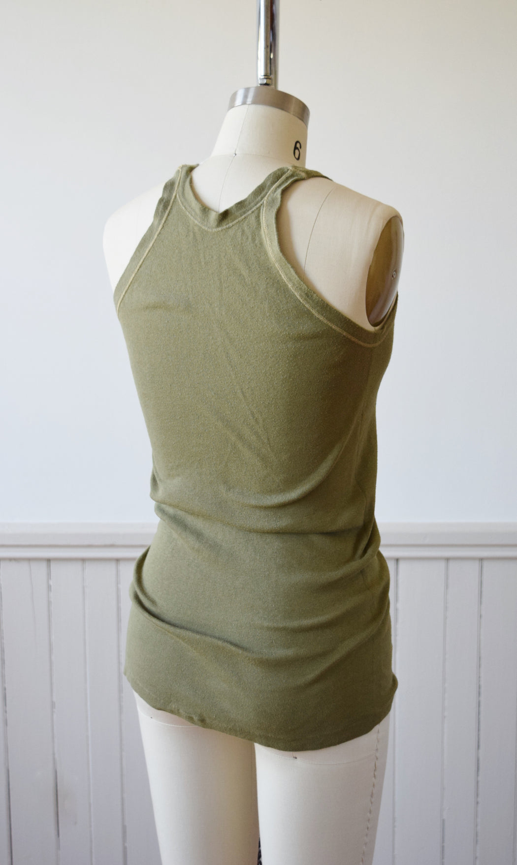 Army Issue Rib Knit Tank | 1940s | 6 | XS/S