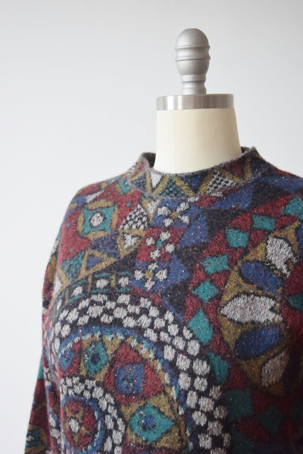 RESERVED 1980s Missoni Sweater with Art Deco Design | S