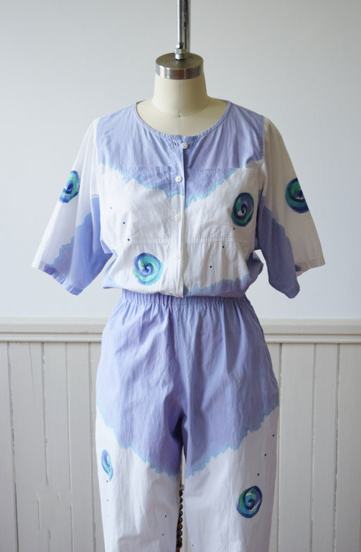 Hand Painted Play/Jumpsuit by Play Alegre | 1980s | S