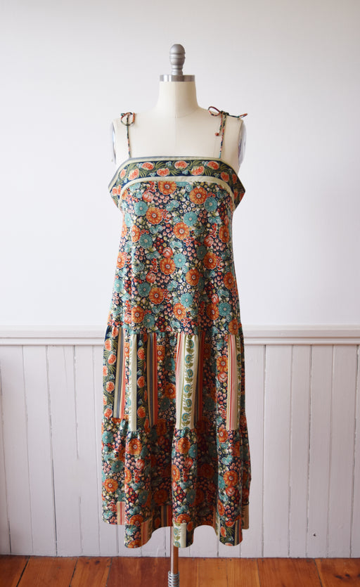 Autumn Floral Dress | 1970s | L