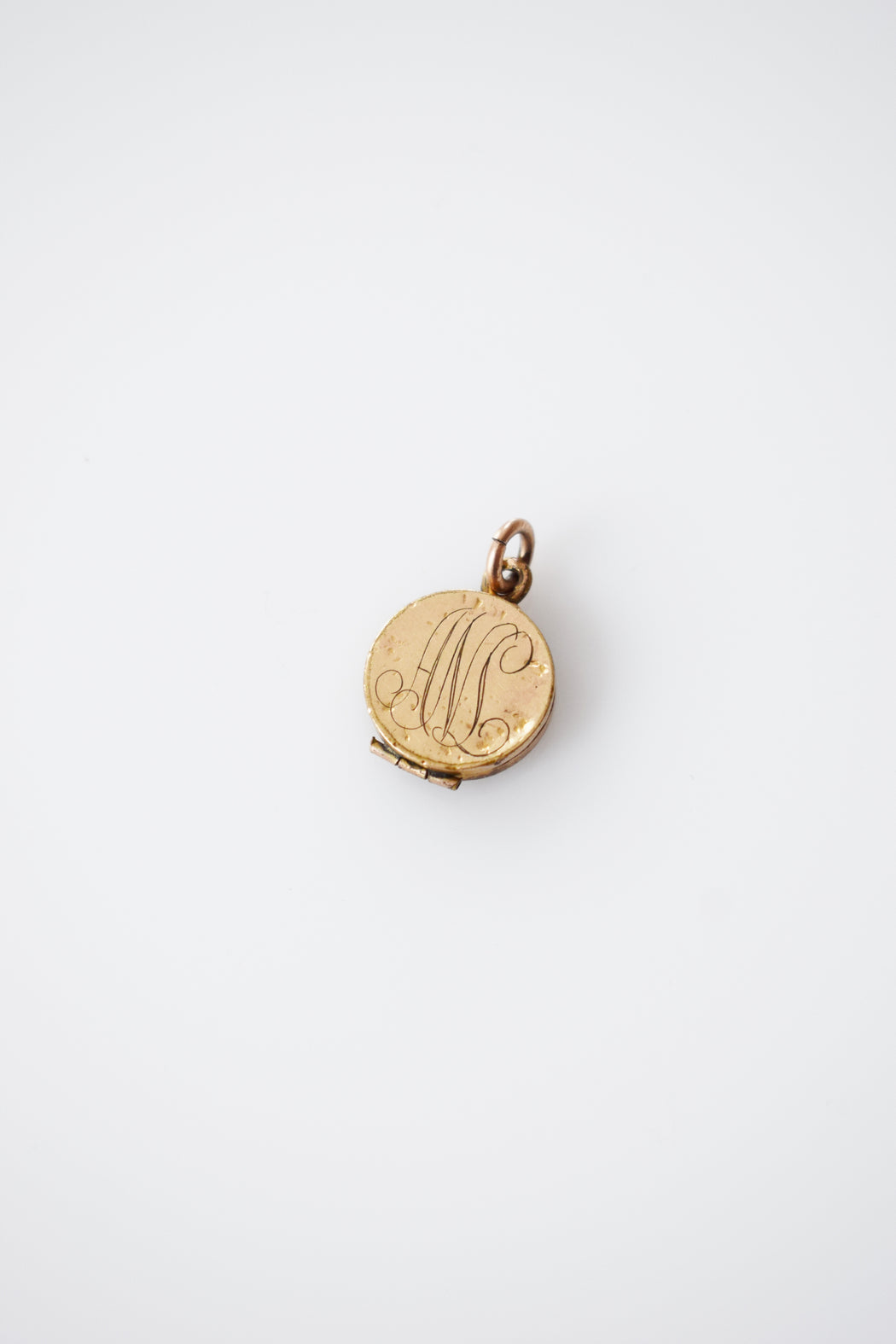 "Petite Antique Gold Fill Locket | ""ANL"""