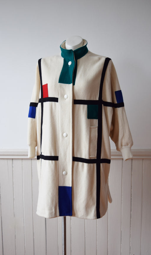 Ode to Mondrian Coat | 1980s | L
