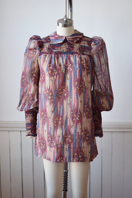 1970s Bishop Sleeve Tunic/Dress | XS
