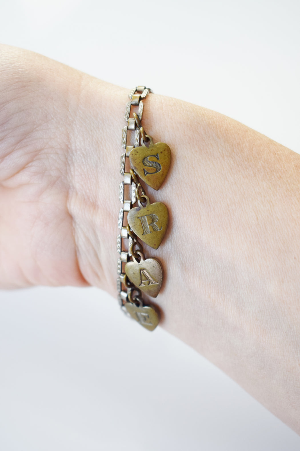 "Art Deco ""EARS"" Sweetheart Charm Bracelet"