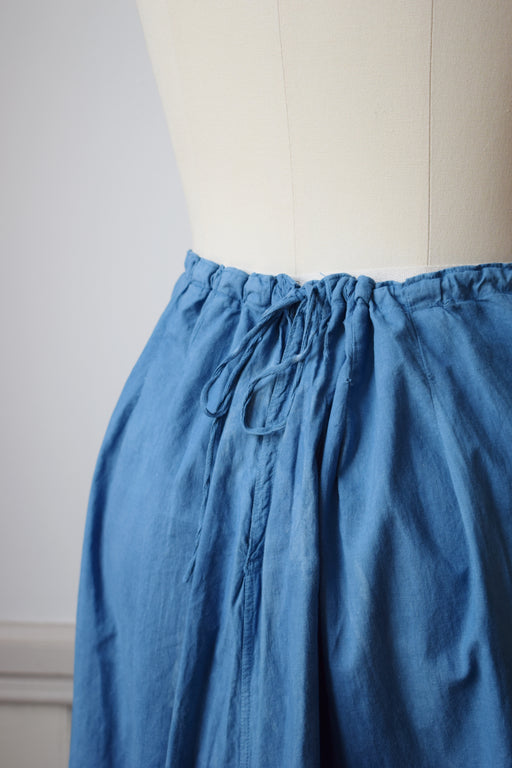 Indigo Dyed Antique Petticoat Skirt | M/L