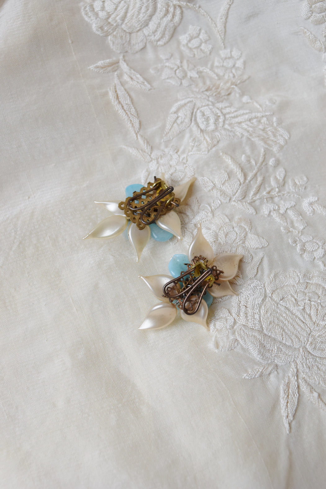Venetian Glass Flower Dress Clips | 1940s