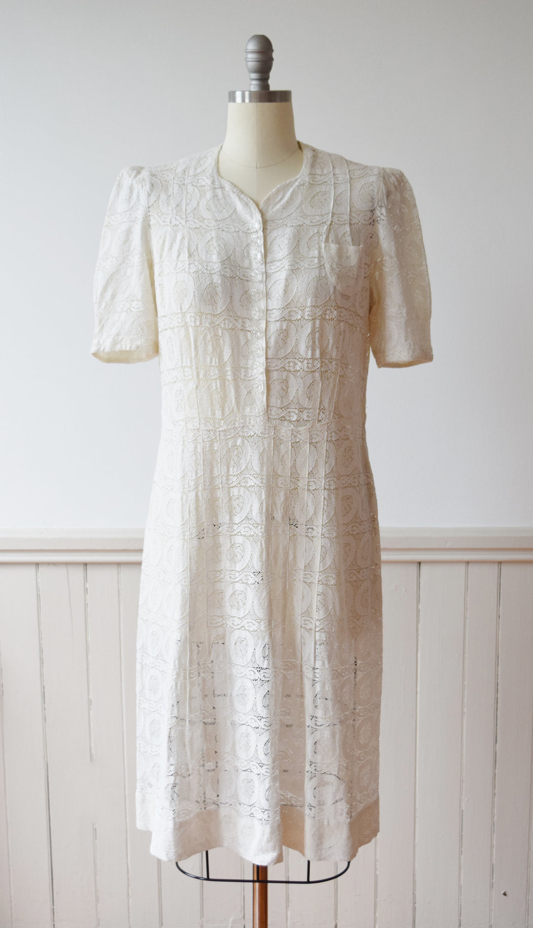 1940s Lace Dress | L/PL