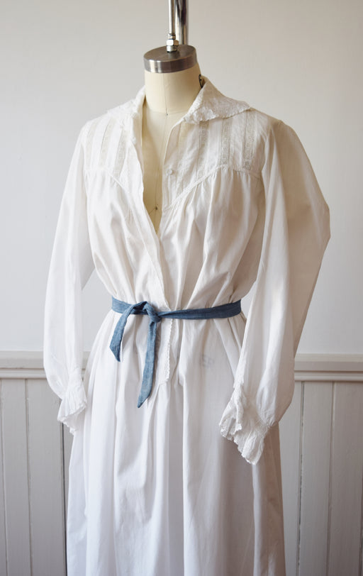 Antique Edwardian Nightgown Dress | c. 1900 | XS/S