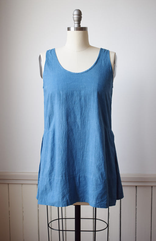 Indigo Dyed Antique Cotton Top | S/M