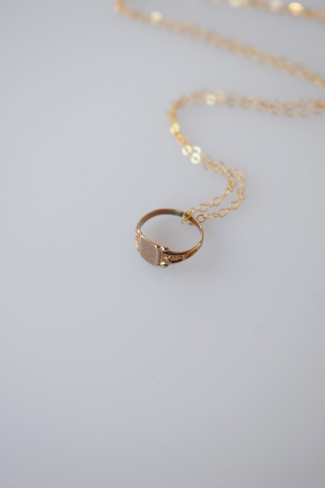 Victorian 10kt Rose Gold Mini Signet Ring/Charm