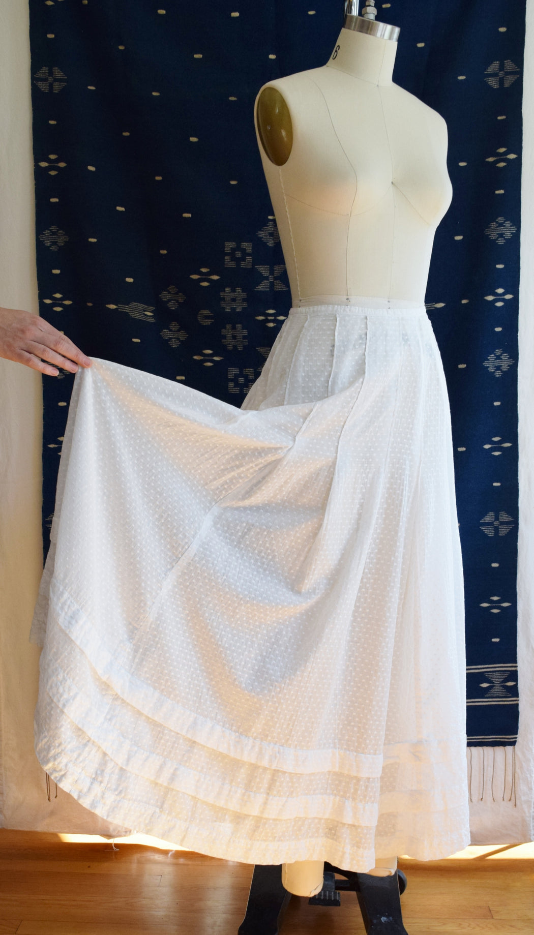 Antique Swiss Dot Skirt | Petticoat