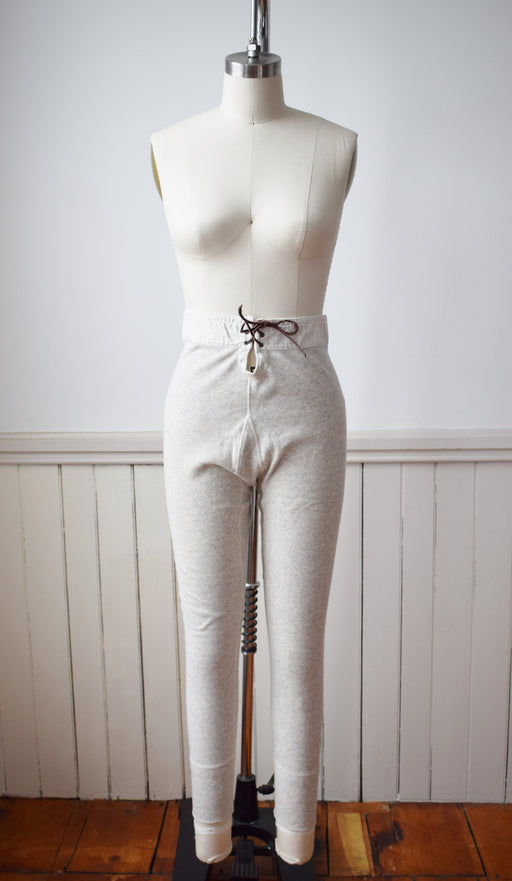1940s Wool/Cotton Blend Thermal Pants | S