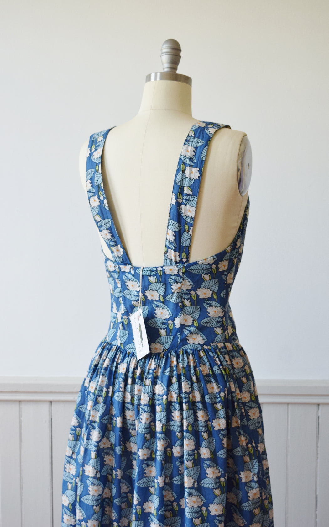 Lily Pond Sun Dress by Adini | 1980s| S/M