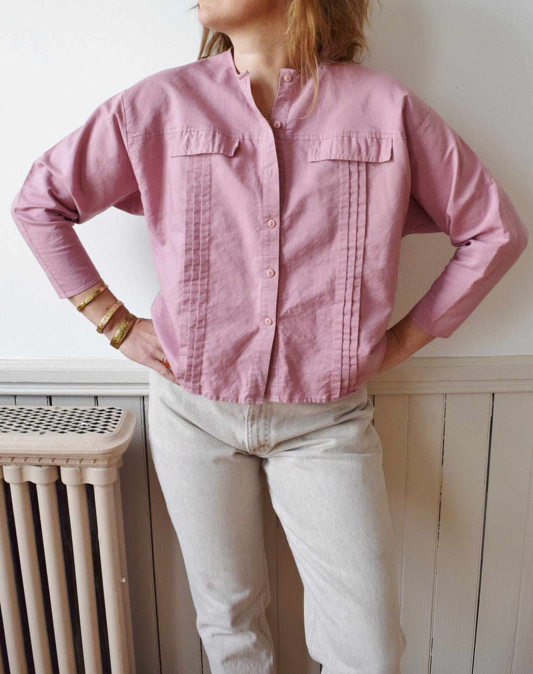 1980s Sorbet Cotton Top | M