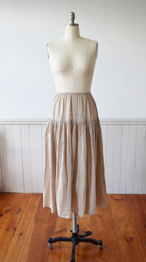 Irish Linen Skirt by Harriet Selwyn | 1990s | S/M