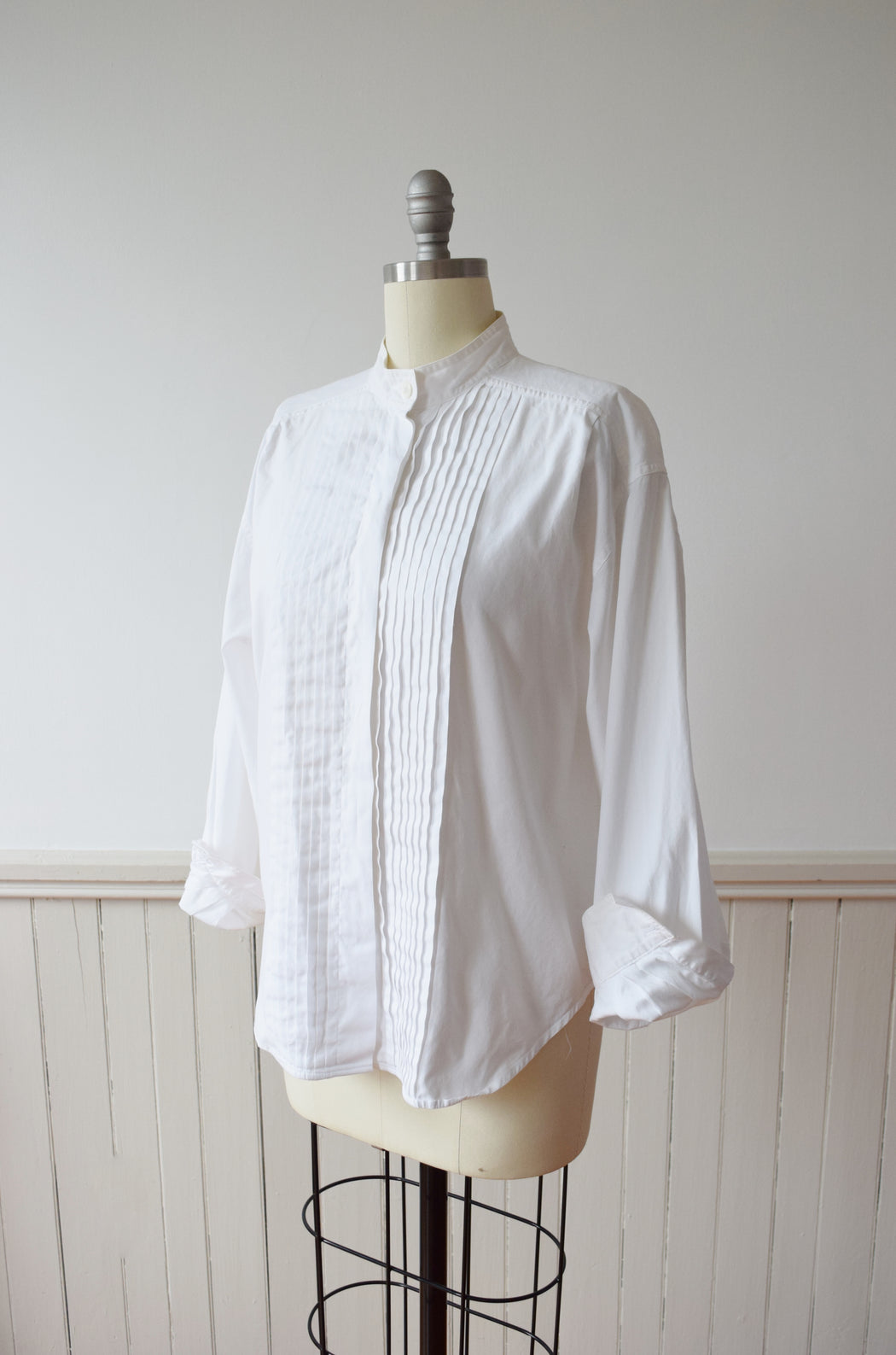 1990s Liz Claiborne Menswear Inspired Top | M