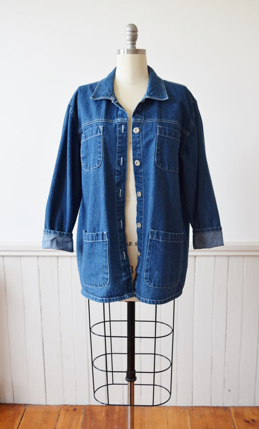 Vintage Denim Chore Coat | M