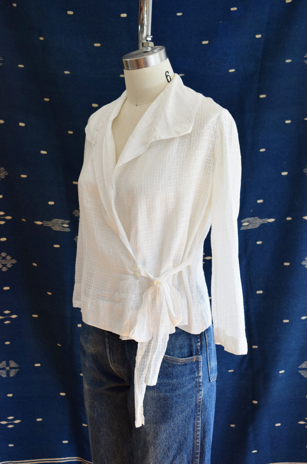 Antique Cotton Wrap Blouse