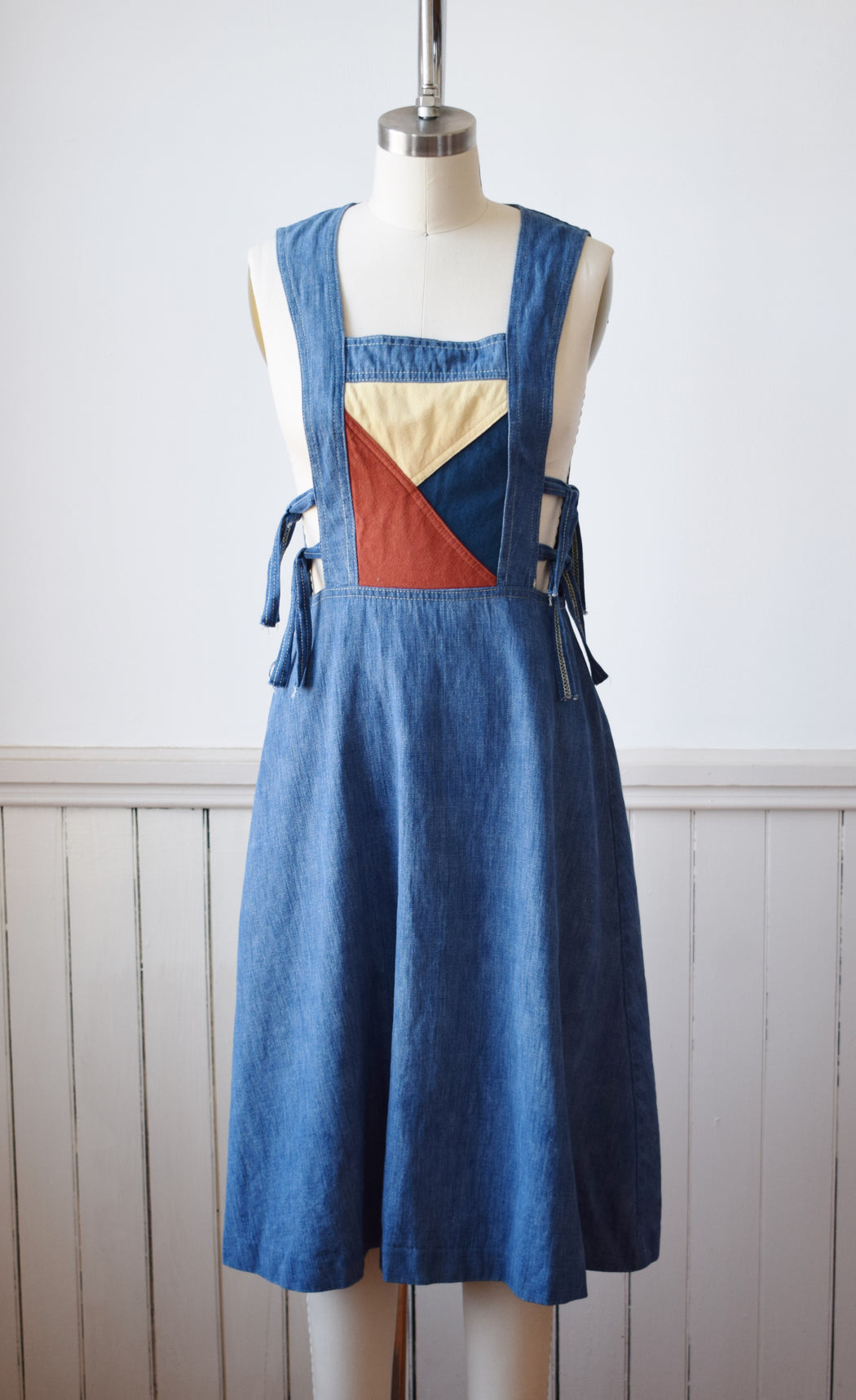 Denim Pinafore Dress | XS/S