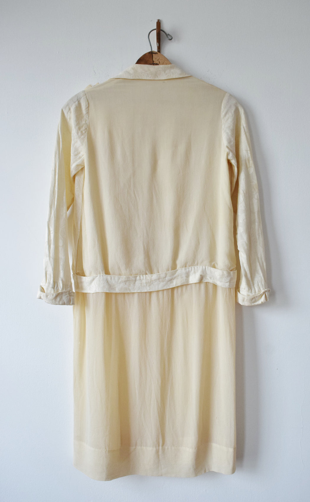1920s Adolescent's (or V. Petite Adult) Mixed Silks Dress