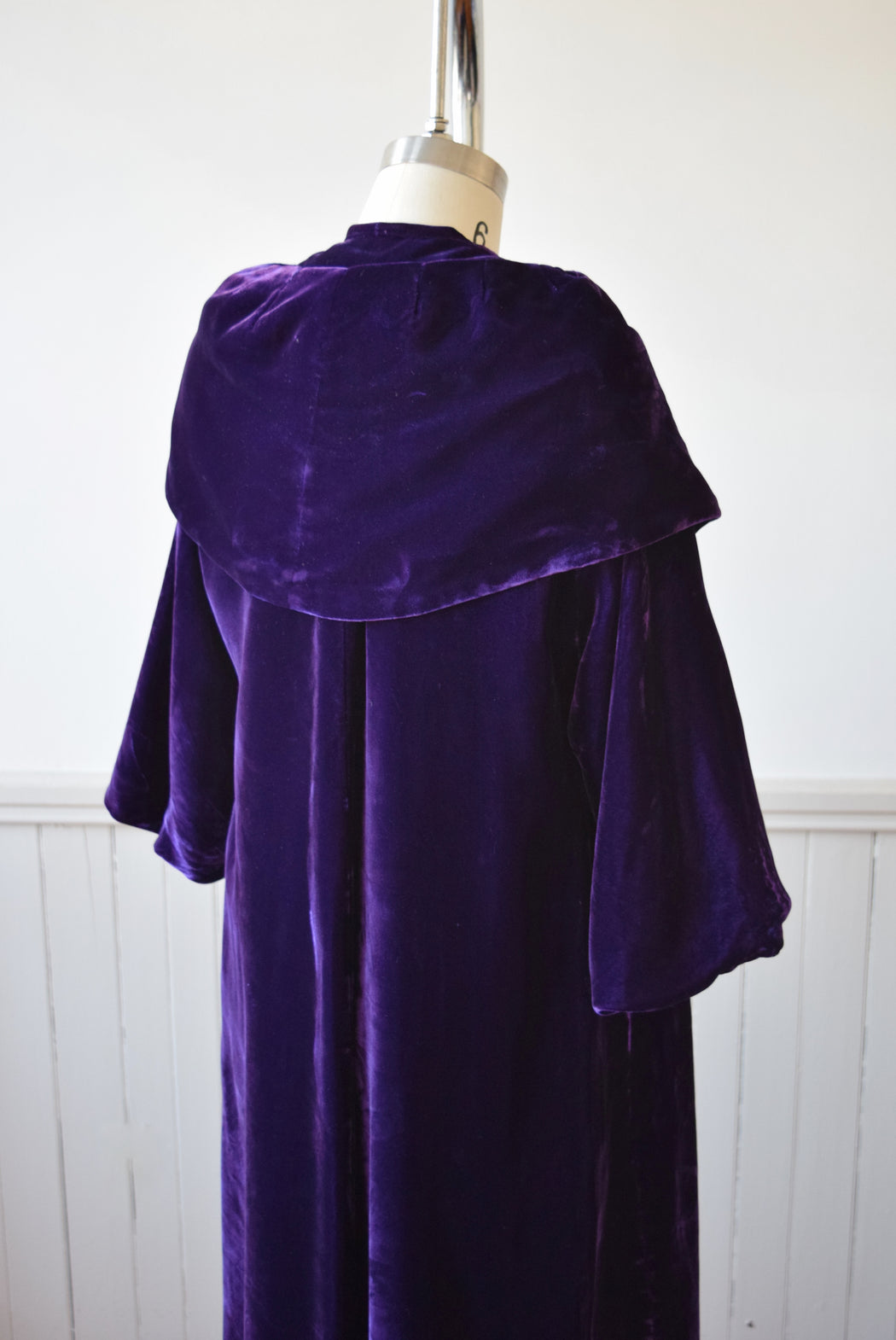 Royal Purple Velvet Swing Coat | 1950s | S/PM
