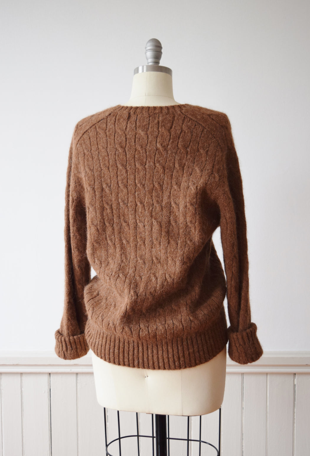 1990s Ralph Lauren Alpaca Cable Knit | M
