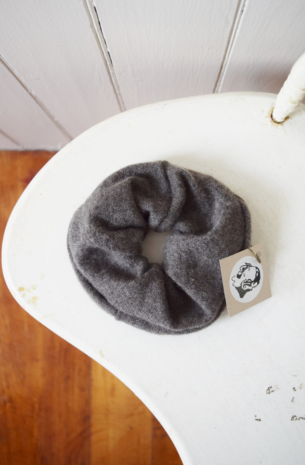 Large Cashmere Scrunchie in Fawn