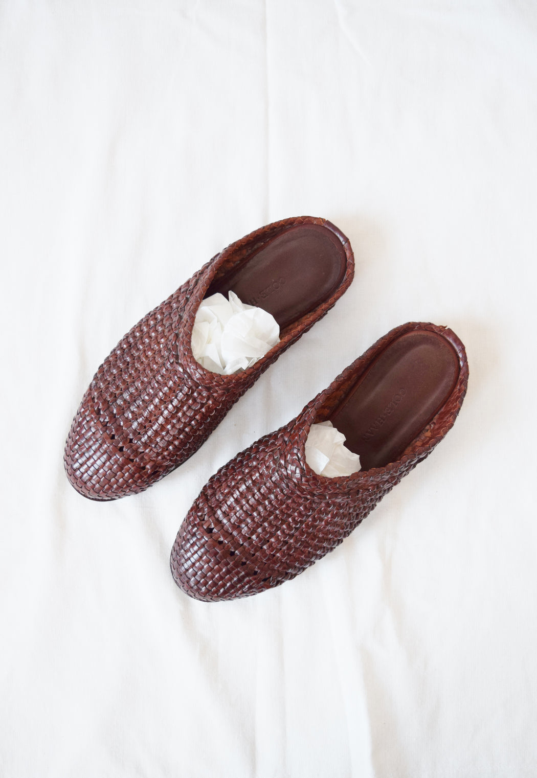 Cole Haan Indian-Style Leather Slides | Men's US 8.5, Women's 10.5