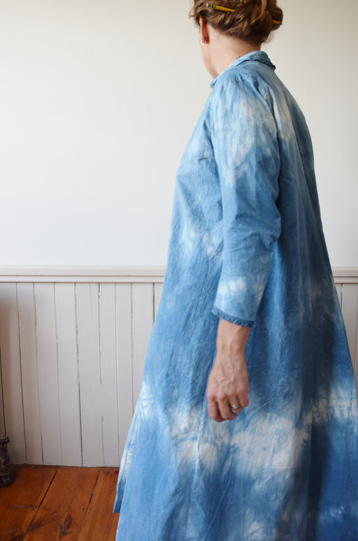 Indigo Dyed Cloud Dress | Antique| S/M