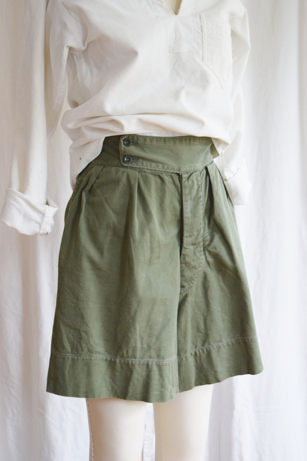 Vintage Mid-Century Ghurka Style Military Issue Shorts