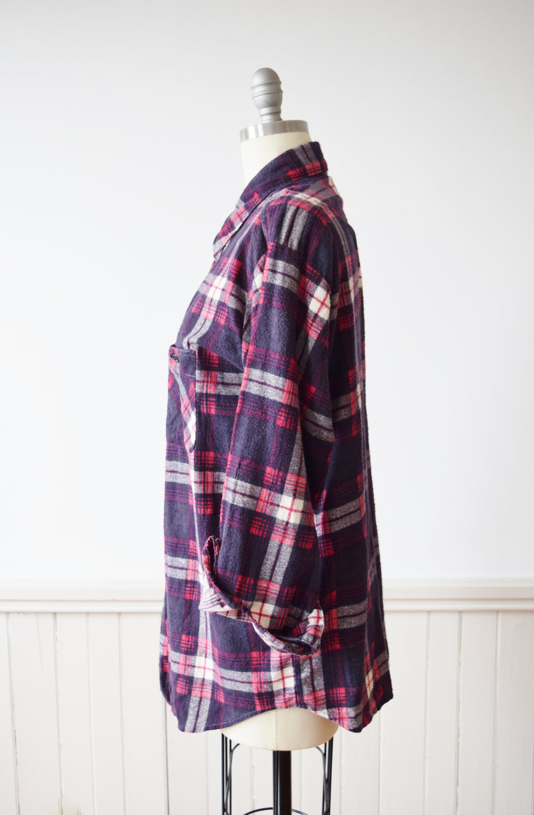 1960s/70s Super Soft Plaid Flannel | M-L