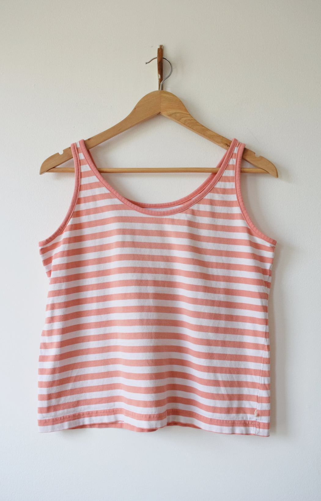 Pink Striped Boxy Tank by Esprit | 1980s | S